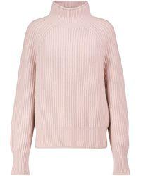 Jardin Des Orangers Ribbed-knit Cashmere Turtleneck Sweater - Pink