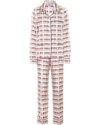 Prada - Conjunto de pijama de seda estampada - Lyst