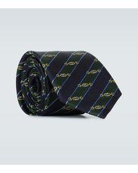 Gucci Corbata de seda con horsebit - Multicolor