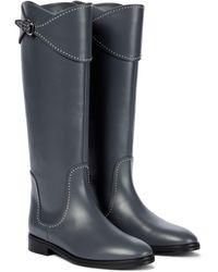 Alaïa Leather Knee-high Boots - Grey
