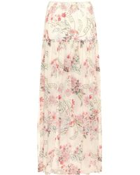 Giambattista Valli - Floral-printed Silk Skirt - Lyst