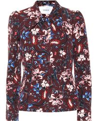 Erdem Garnet Floral Jacquard Jacket - Red
