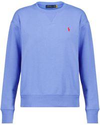 Polo Ralph Lauren Sweatshirt aus Jersey - Blau