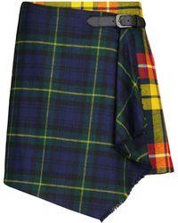 Polo Ralph Lauren Checked Wool Miniskirt - Multicolour