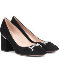 Tod's - Double T Suede Pumps - Lyst