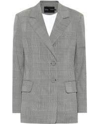 Proenza Schouler - Checked Stretch Wool Blazer - Lyst