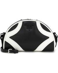 Prada Schultertasche Bowling aus Leder - Schwarz