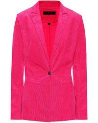 J Brand Denise Corduroy Blazer - Pink