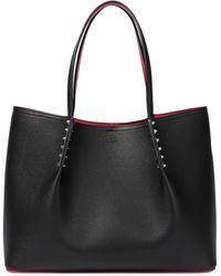 Christian Louboutin Cabarock Large Leather Tote - Black