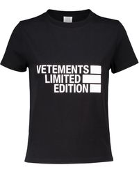 Vetements Bedrucktes T-Shirt aus Jersey - Schwarz