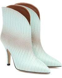 Paris Texas - Ankle Boots aus geprägtem Leder - Lyst