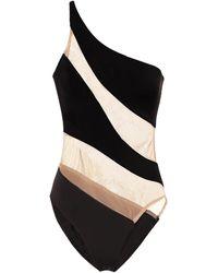 Norma Kamali Snake Mesh Swimsuit - Black
