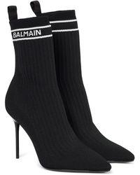Balmain Skye Sock Boots - Black