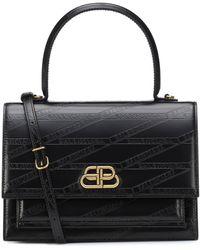Balenciaga - Sharp M Leather Shoulder Bag - Lyst