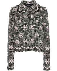 Giambattista Valli - Embroidered Tweed Jacket - Lyst