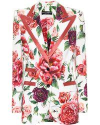 Dolce & Gabbana Blazer floral - Rojo