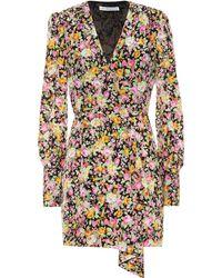 Les Rêveries Exclusivité Mytheresa – Robe portefeuille en crêpe - Multicolore