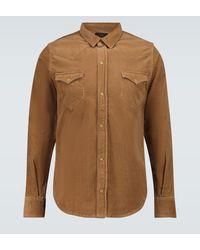 Alanui Corduroy Overshirt - Brown