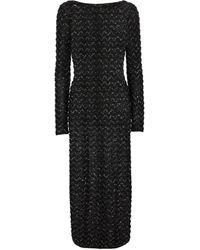 Missoni Robe longue en maille pailletée - Noir