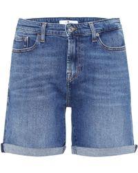 7 For All Mankind - Boy High-rise Denim Shorts - Lyst