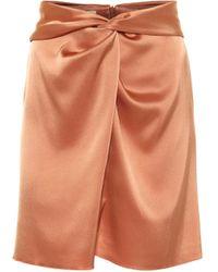 Nanushka Minifalda Milo de satén - Naranja