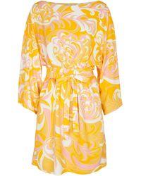 Emilio Pucci Long-sleeved Mini Dress - Yellow