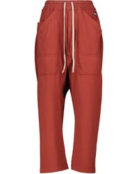Rick Owens DRKSHDW Jogginghose aus Baumwolle - Rot