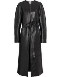 Totême Mantel aus Leder - Schwarz