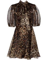 Dolce & Gabbana - Minikleid aus Seidenorganza - Lyst