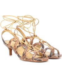 Zimmermann Scallop Kitten Heel Sandals - Multicolour