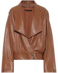 Zeynep Arcay Leather Jacket - Brown