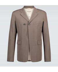 Rochas Qualls Wool And Cotton-blend Blazer - Brown