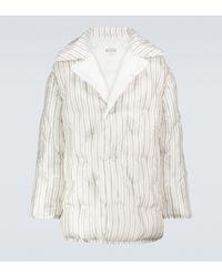 Maison Margiela Striped Padded Jacket - White