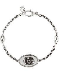 Gucci Double G Chainlink Sterling Silver Bracelet - Metallic