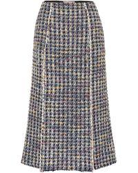 Brock Collection Jupe Pietraluna en laine mélangée - Bleu