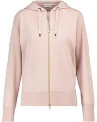Brunello Cucinelli Sweat-shirt à capuche en cachemire - Rose