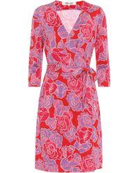 Diane von Furstenberg Exclusivité Mytheresa – Robe portefeuille New Julian en soie - Rouge