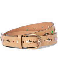 Isabel Marant Zap Embellished Leather Belt - Natural