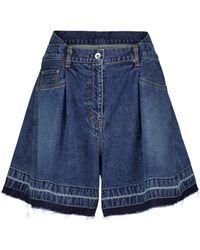 Sacai Short en jean - Bleu