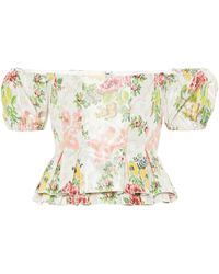 Brock Collection Exclusive To Mytheresa – Oarsman Floral Silk-blend Top - White