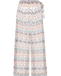 Missoni Zigzag High-rise Wide Trousers - White