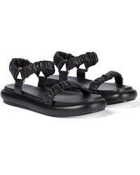Khaite Puglia Leather Sandals - Black