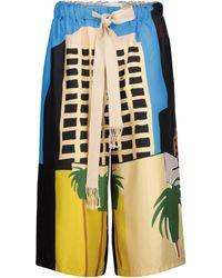 Loewe X Ken Price Printed Silk Shorts - Multicolor