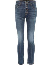 Veronica Beard Jeans Debbie skinny de tiro alto - Azul
