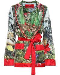 F.R.S For Restless Sleepers - Armonia Silk Pajama Jacket - Lyst