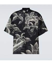Givenchy Bedrucktes Kurzarmhemd aus Seide - Schwarz