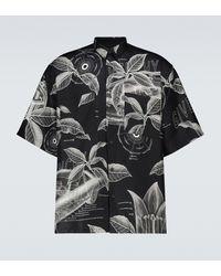Givenchy Chemise en soie à imprimé - Noir