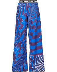 Stella McCartney X Ed Curtis pantalones anchos Teo - Azul
