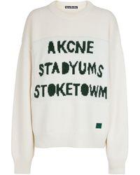 Acne Studios Wool Jumper - White