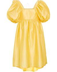 Cecilie Bahnsen Tilde Faille Minidress - Yellow